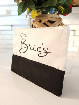 Faux Suede Brie's Cosmetic Bag