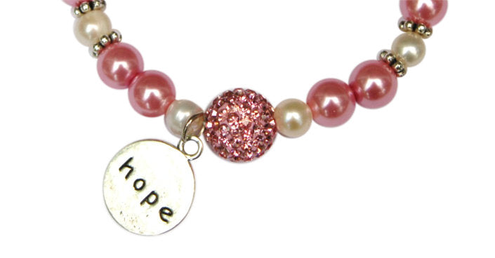 Hope for a Cure: Breast Cancer Bracelets