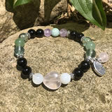 Fertility Bracelet with gemstones and Charms