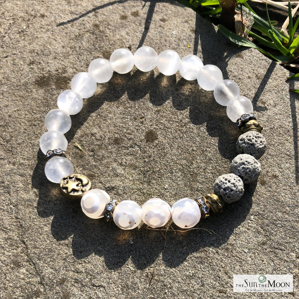 Selenite for peaceful sleep. Insomnia Bracelet