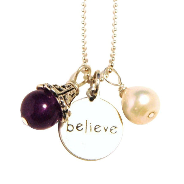 Amethyst Believe Fertility Necklace