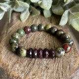 Bloodstone and Garnet Bracelet