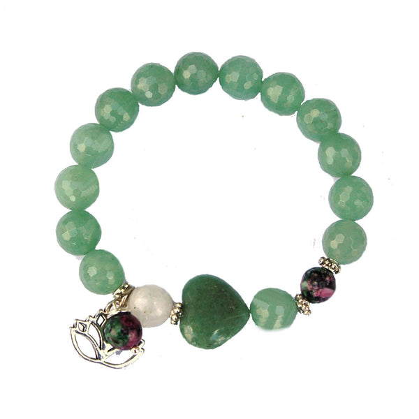 Aventurine, Moonstone and Ruby Zoisite Fertility and Love Bracelet