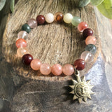 Rutilated Quartz Sunstone bracelet