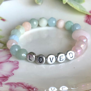 Beaded Name message Love Bracelet