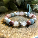 Rose Quartz Moonstone Fertility bracelet