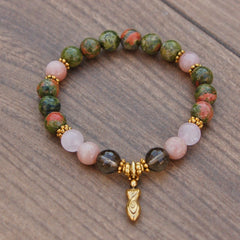 Smoky Quartz + Unakite for Fertility