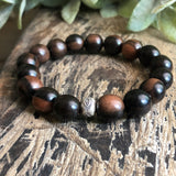 Tiger Ebony Wood Bracelet