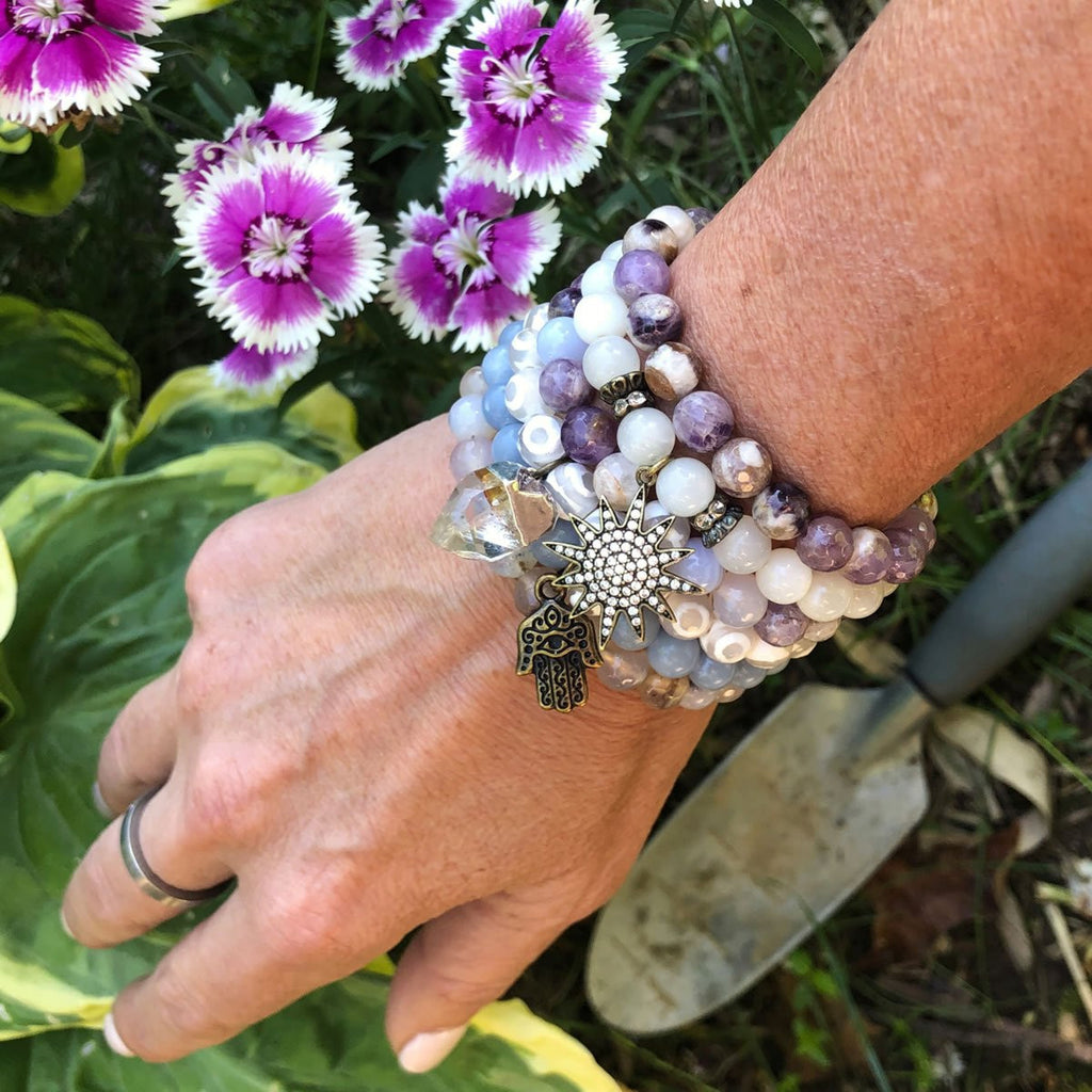 Amethyst and Agate Healing Bracelets