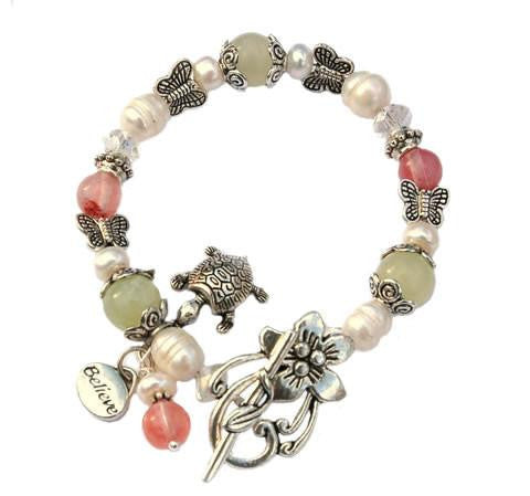 Butterfly and Believe Fertility Bracelet