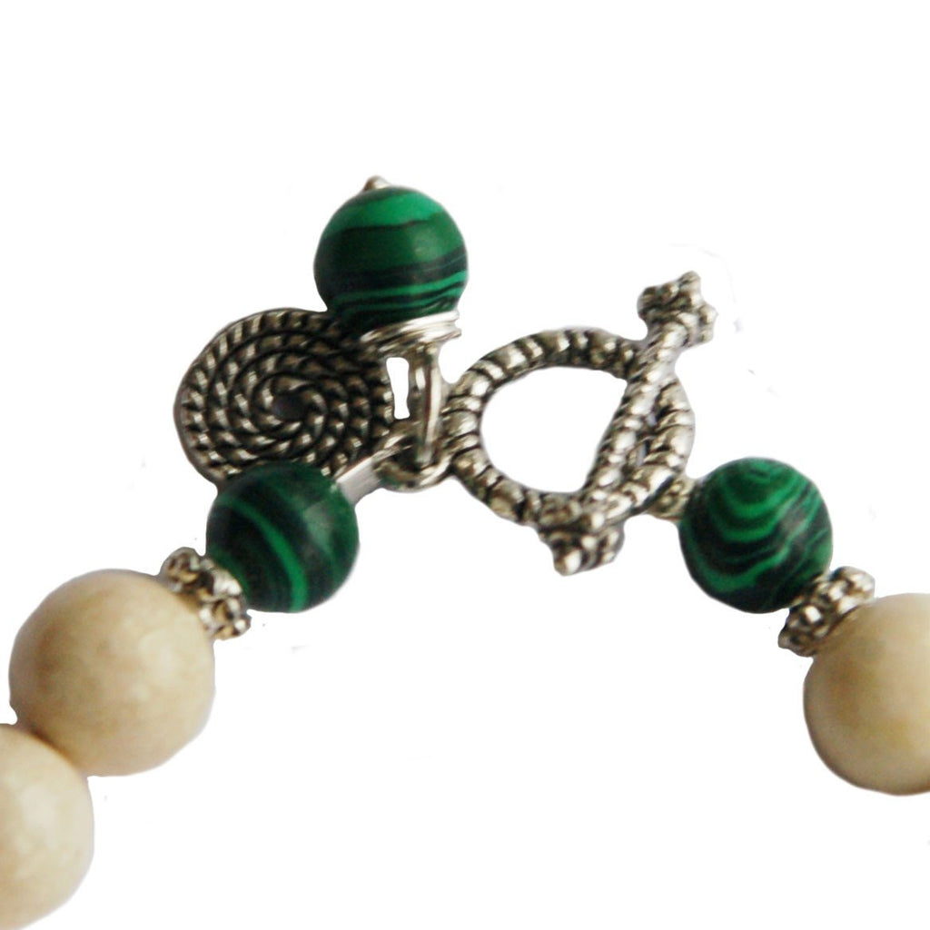 Riverstone, Malachite, and Lapis Childbirth Bracelet