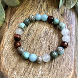 Larimar, selenite, tigers eye, aquamarine (5244570632355)