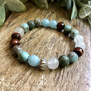 Courage Sterling Silver Gemstone Bracelet (5244570632355)