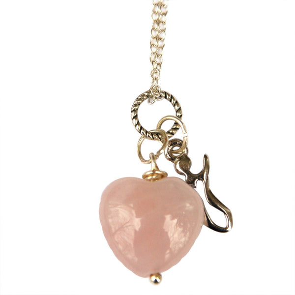 Rose Quartz Fertility Goddess Necklace