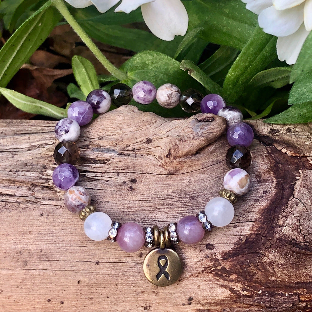 Kick Cancer's Ass Healing Stone Bracelet
