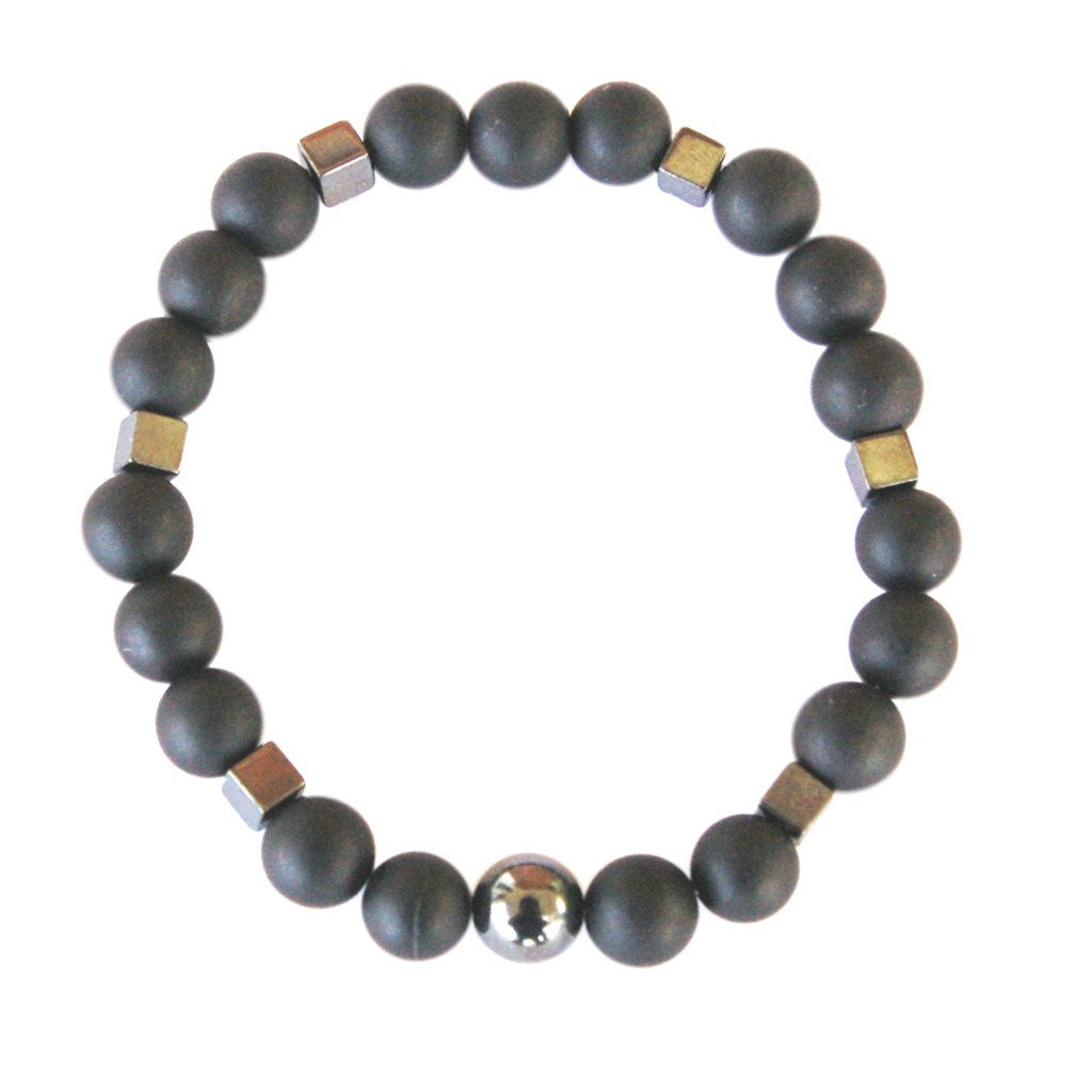 mens for shop bracelet and black mala balance lava men peace agate