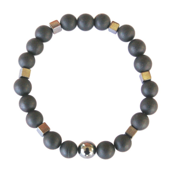 Black Coral Hematite Men's Fertility Bracelet