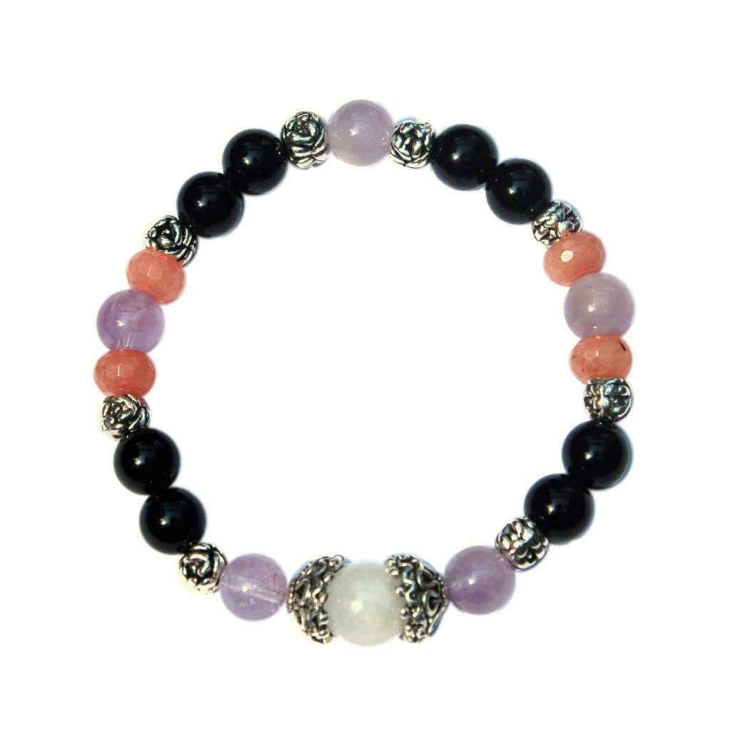 pray bangle products chakra chakras colors new healing kundalinispirit crystal crystals bracelets mala mixed bracelet stone
