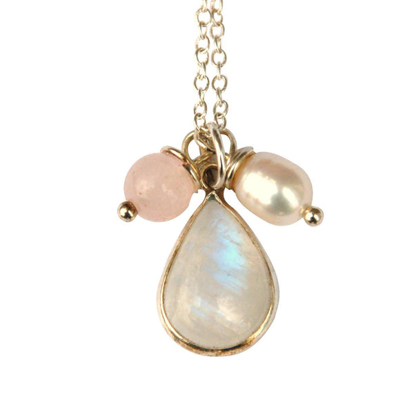 Moonstone, Pearl Necklace for granting wishes