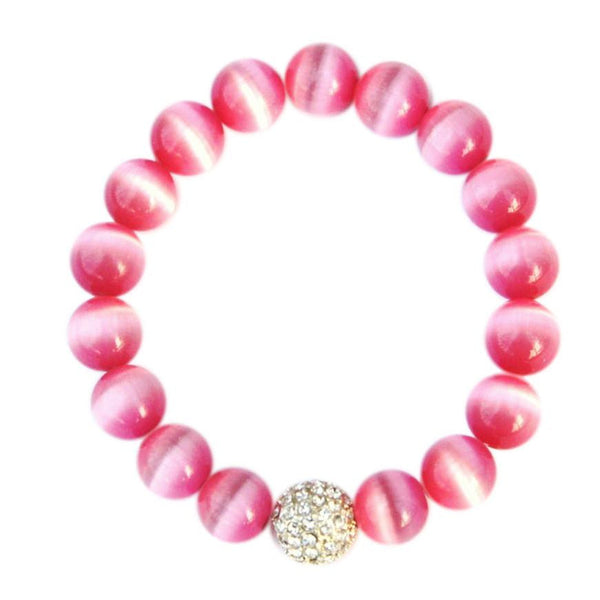 Pink Pave Awareness Bracelet