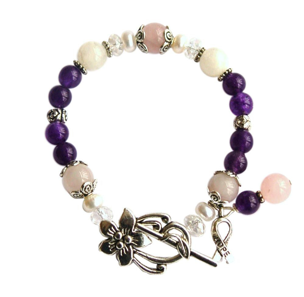 peggy healing bracelet the midnight howlite creations product rose ii quartz s