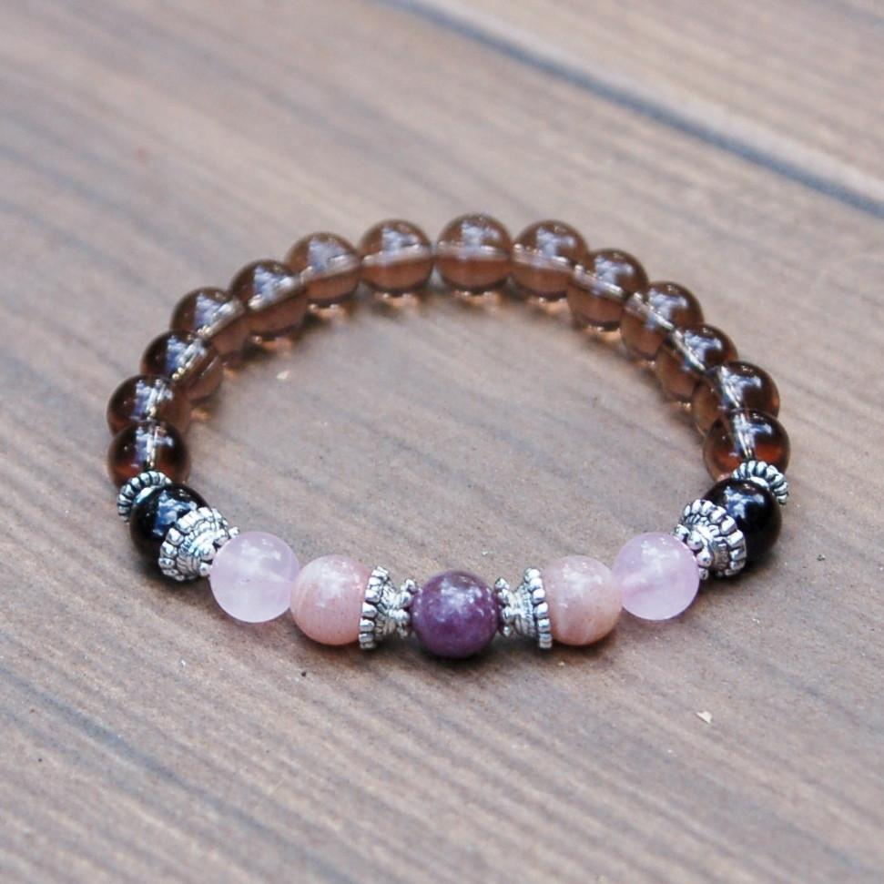 Smoky Quartz Depression, Miscarriage + Fertility Bracelet