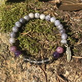Crystal + Gemstone Bracelet for Overcoming Addictions
