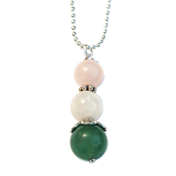 Aventurine, Moonstone and Rose Quartz Fertility Necklace