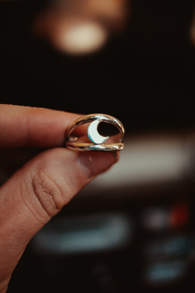 Moon Sandwich Ring