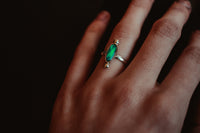 Rose Cut Opal Ring