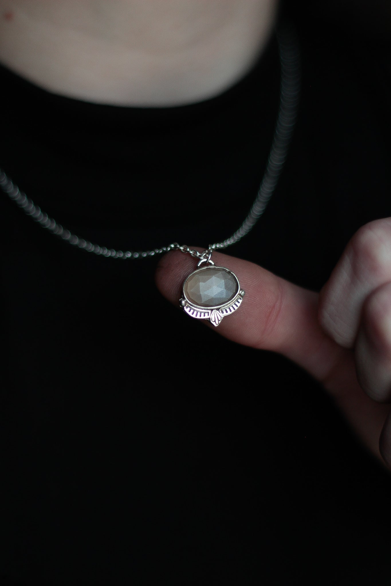 Rose Cut Moonstone Pendant