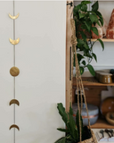 Brass Moon Phase Wall Hanging