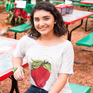 Marbled Slouch Sassy Strawberry Tee