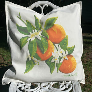 Orange Blossom Pillow