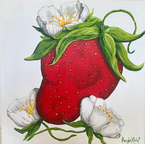 Bright Berry Blossoms - Original Art