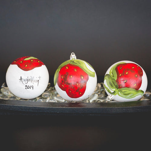 Strawberry Christmas Ornament