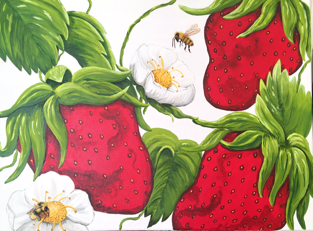 Bee's Berry Patch - Original Art