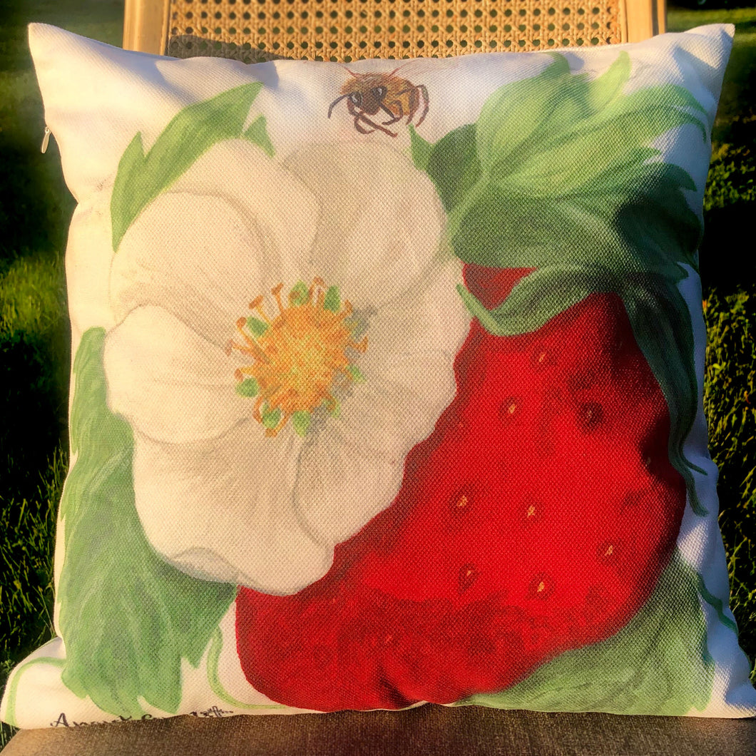 Berry Blossom Pillow