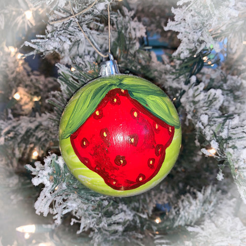 Strawberry Christmas Ornament ~ 2019