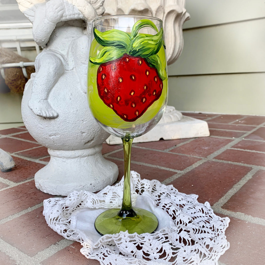 Strawberry Wine Glass ~ 2019