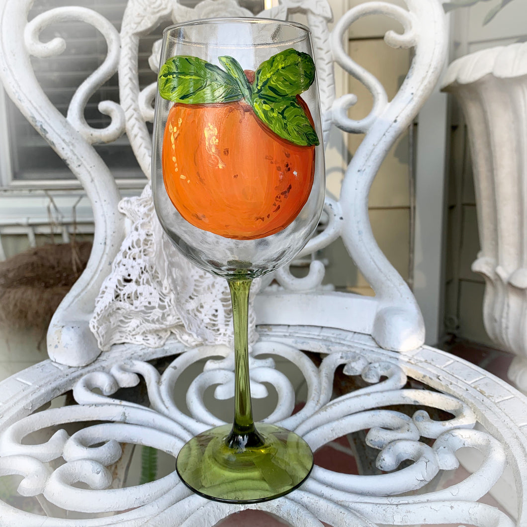 Orange Wine Glass