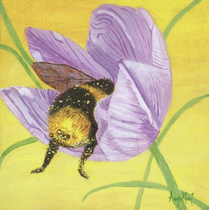 Art Print - Bumble Bee Butt in Lilac