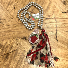 Load image into Gallery viewer, Leopard Sassy Strawberry Tassel Necklace