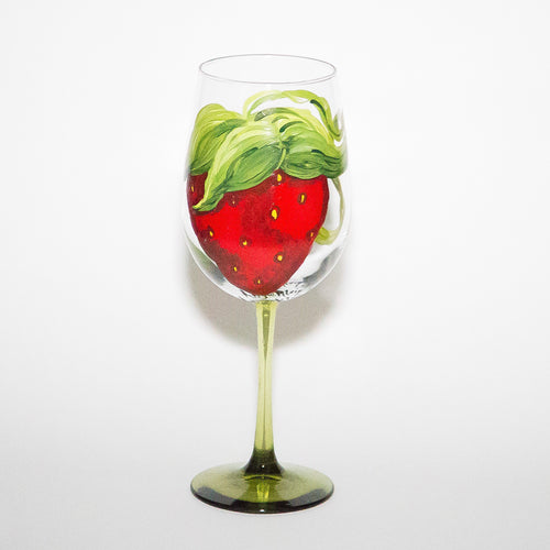 Strawberry Wine Glass