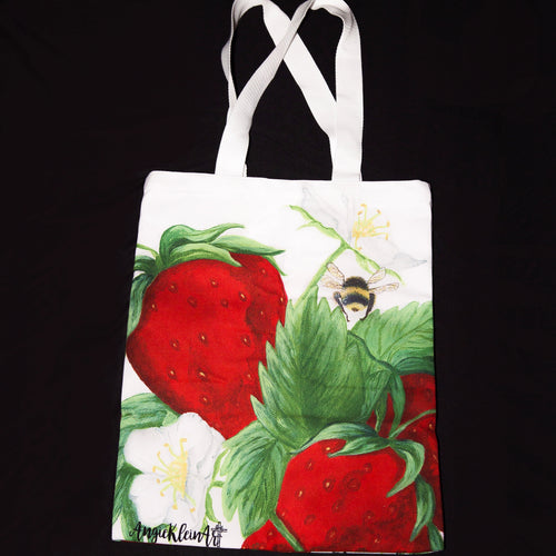 Strawberry Art Tote