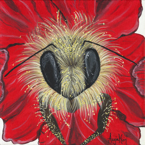 Bee-autiful Hibiscus - Original Art