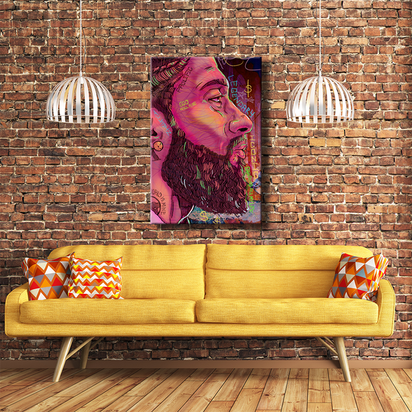 Nipsey Husstle Gallery Wrap Canvas Art for Living Room