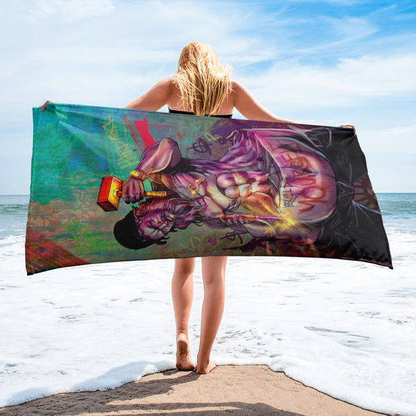 BULD YOURSELF - BEACH TOWEL - REBHORN DESIGN