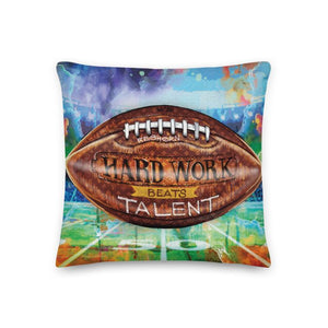 HARD WORK BEATS TALENT PREMIUM PILLOW - REBHORN DESIGN