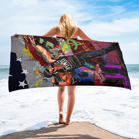 HULK HOGAN BEACH TOWEL - REBHORN DESIGN